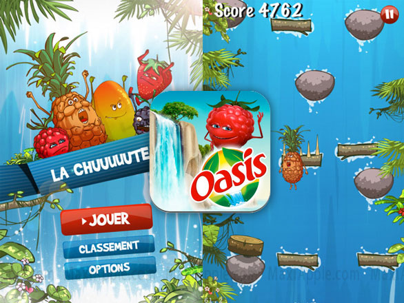 la chuuute oasis iphone La Chuuute by Oasis iPhone : Excellent Jeu dArcade (gratuit)
