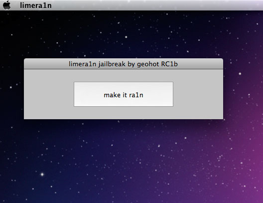 limera1n mac osx2 LimeRa1n Mac OSX : Jailbreak iPhone 4 iOS 4.1 iPod Touch et iPad (gratuit)