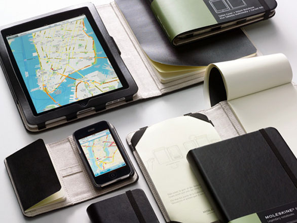 moleskine iphone ipad 1 Moleskine iPhone iPad : Protections et Bloc Notes (images)