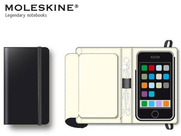 moleskine iphone ipad 2 Moleskine iPhone iPad : Protections et Bloc Notes (images)