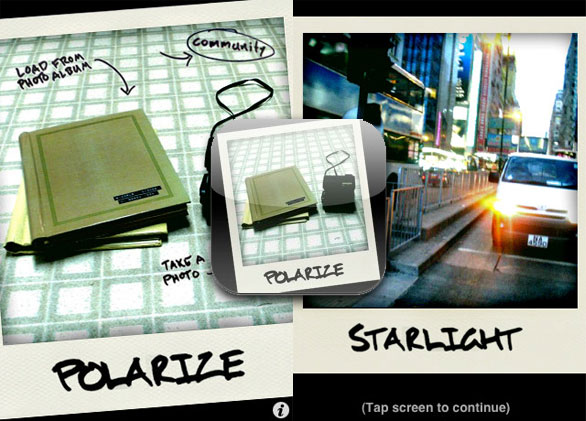 polarize iphone 1 Polarize iPhone : Bluffants Effets Photo Polaroid (gratuit)