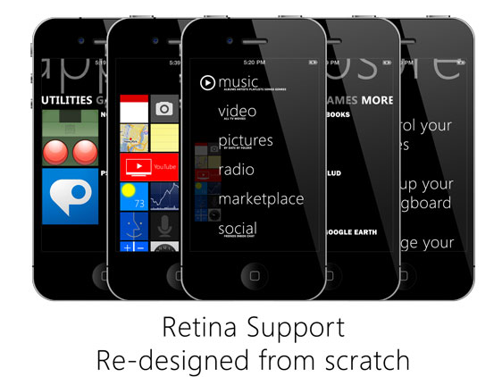 iPhone Zune HD Ultimate 2 1 Theme Windows Phone 7 pour iPhone : Zune HD Ultimate 2 (video)