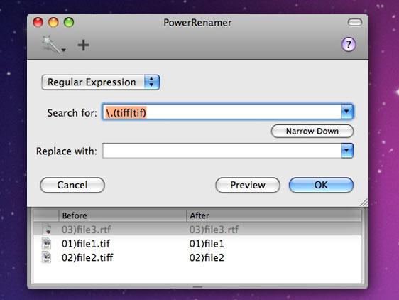 renommer un fichier avec mac