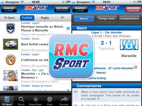 rmc sport iphone ipad 1 RMC Sport iPhone iPod Touch iPad (gratuit)