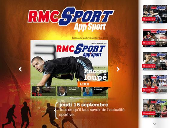 rmc sport iphone ipad 2 RMC Sport iPhone iPod Touch iPad (gratuit)