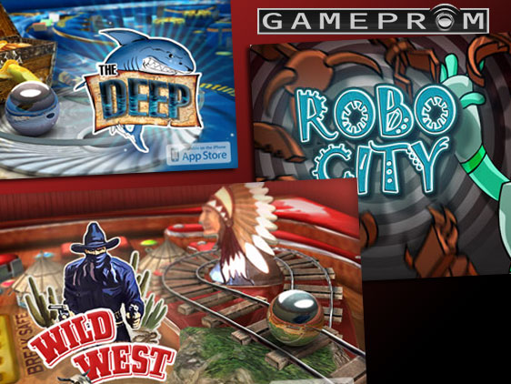 gameprom pinball flipper 3 Flippers Gratuits iPhone iPod Touch : RoboCity, Deep Pinball, Wild West Pinball