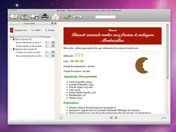 MyCook Mac OSX Livre De Recettes Et Aide De Cuisine Gratuit - Creer un livre de recette de cuisine