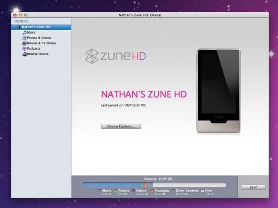 zune hd wp7 connector Synchroniser le ZUNE HD sur Mac OSX avec Windows Phone 7 Connector (gratuit)