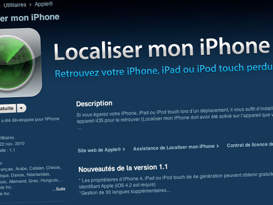 comment localiser une photo sur iphone 4