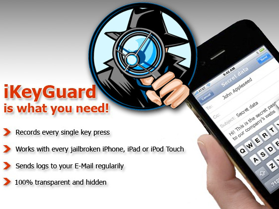 iKeyGuard iPhone iPod Touch iPad Keylogger iKeyGuard iPhone iPod Touch iPad : Logiciel Espion (Keylogger)