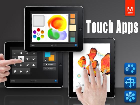 Adobe Touch App - Adobe Eazel, Nav et Color Lava pour iPad et Photoshop CS5 : Disponibles sur l'AppStore
