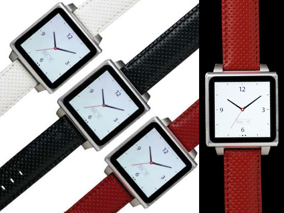 hex watch montre ipad nano 3 HEX Watch Vision iPod Nano 6 : Elegants Bracelets Montre Metal ou Cuir (images)