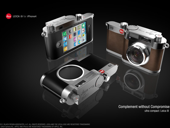 leica i9 iPhone 4 concept 1 Concept Appareil Photo : Un iPhone 4 dans Un Leica i9
