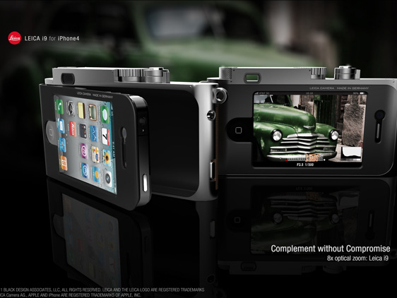 leica i9 iPhone 4 concept 2 Concept Appareil Photo : Un iPhone 4 dans Un Leica i9