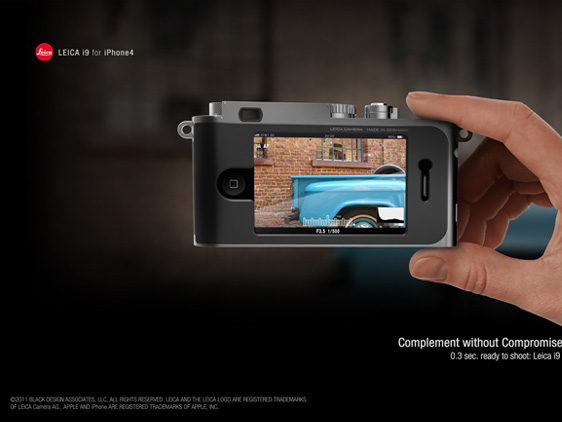 leica i9 iPhone 4 concept 3 Concept Appareil Photo : Un iPhone 4 dans Un Leica i9