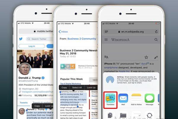translate app iphone ipad 1 600x400 - Translator iPhone iPad - Ajoute un Traducteur aux Apps (gratuit)