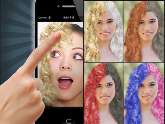 Application couleur cheveux