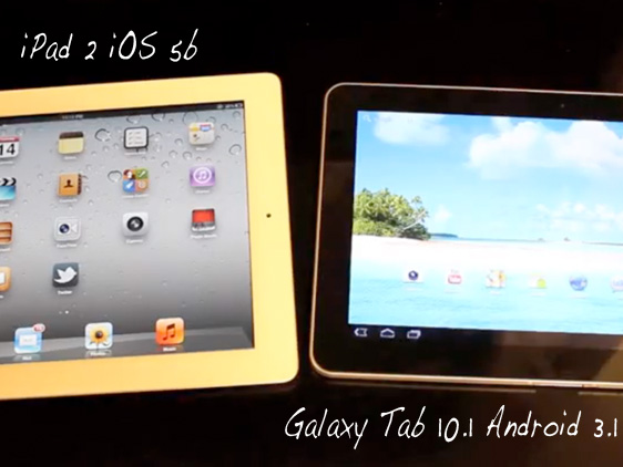 iPad 2 iOS 5 vs Samsung Galaxy Tab 10 1 Android 3 1 iPad 2 iOS 5 vs Samsung Galaxy Tab 10.1 Android 3.1 : Comparatifs Video