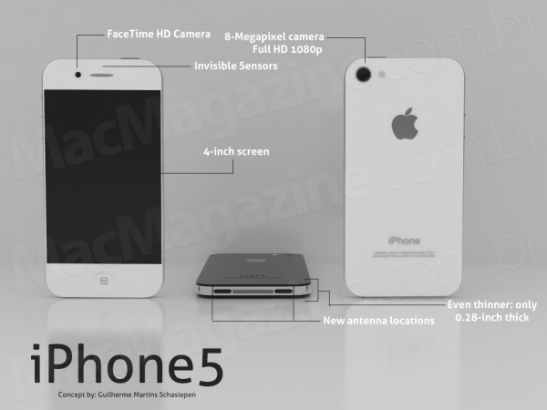 07 iphone5conceito06 600x450 Un Mockup iPhone 5 Etonnant de Realisme (images)
