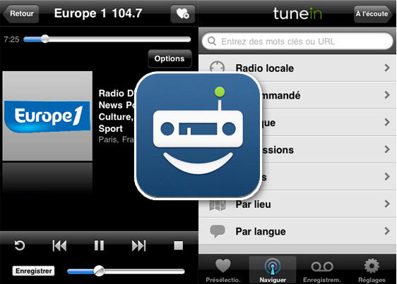 TuneIn Radio Pro iPhone iPad 1 TuneIn Radio Pro iPhone iPad : Ecouter et Enregistrer Vos Radios Web/AM/FM