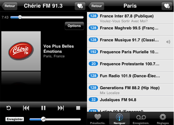 TuneIn Radio Pro iPhone iPad 2 TuneIn Radio Pro iPhone iPad : Ecouter et Enregistrer Vos Radios Web/AM/FM