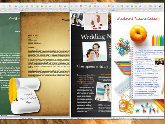 Pages Templates Mac OSX : 100 Modeles Pros pour iWorks - MaxiApple com