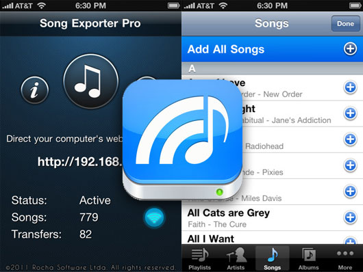 Song Exporter Pro iPhone iPad 1 Song Exporter Pro iPhone iPad : Importer vos MP3 sans iTunes sur Mac et PC (gratuit)