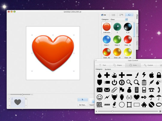 creation logo mac os x