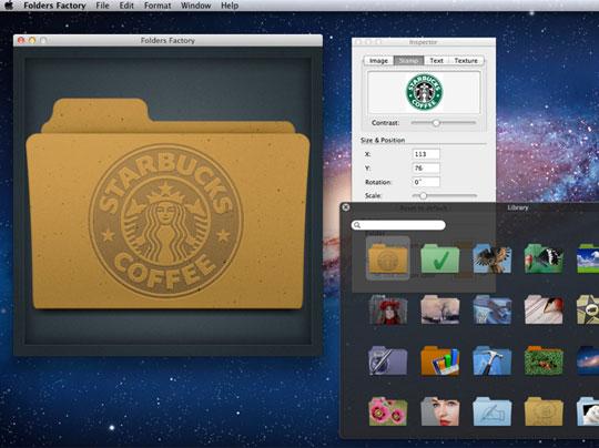 Folders Factory Mac OSX : Personnaliser Vos Dossiers avec Images et