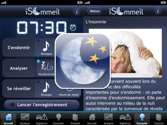 application isommeil