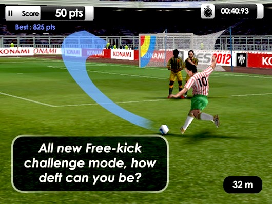 pes 2012 iphone ipad 2 PES Pro Evolution Soccer 2012 iPhone iPad iPod Touch (gratuit)