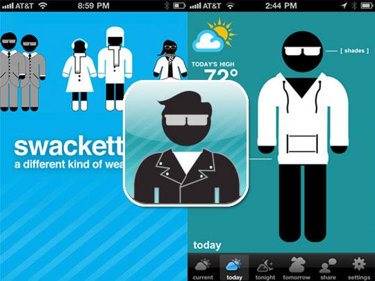 Swackett iPhone 1 - Swackett iPhone : La Meteo en Personnages (gratuit)