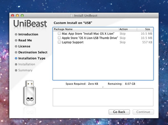 UniBeast Mac OSX UniBeast : Installer Facilement Mac OSX 10.7 Lion sur PC (gratuit)