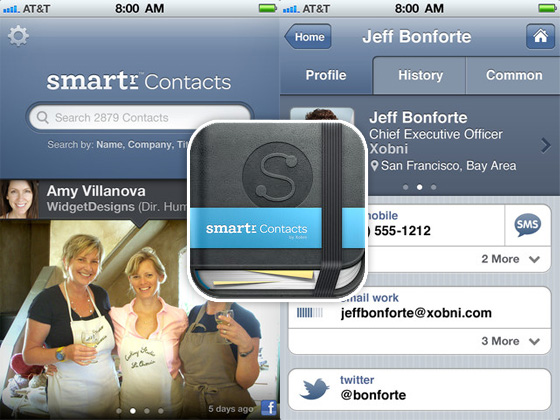 Smartr Contacts iPhone 1 Smartr Contacts iPhone : Fiches de Contacts Toujours à Jour (gratuit)