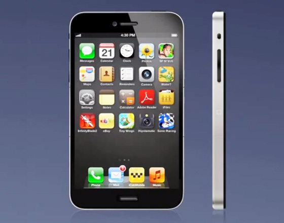 iphone 5 concept 1 Concept iPhone 5 vs iPhone 4S (Video)