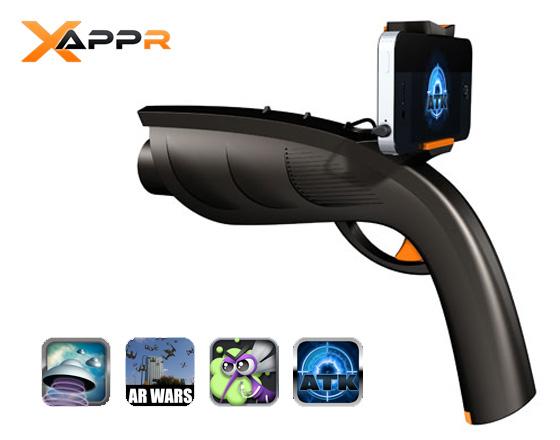 XappR Gun iPhone 1 XappR Gun iPhone : Un Pistolet pour Jeux en Realite Augmentée (images)