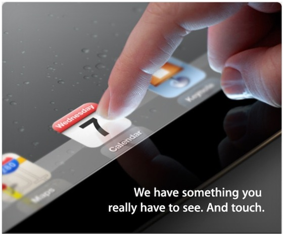 ipad 3 event invite Confirmation de lApple Keynote iPad 3 pour le 7 mars 2012