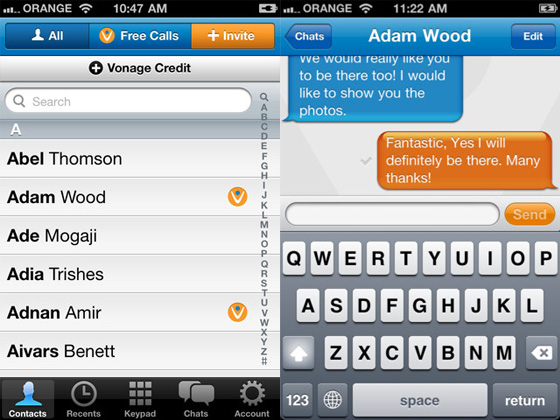 vonage mobile iphone 2 Vonage Mobile iPhone : Appels et Textos Gratuits (gratuit)