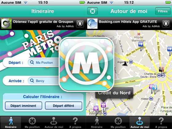 Paris Metro Top iPhone 1 Paris Metro Top iPhone : Optimiser vos Deplacements sans Internet (gratuit)