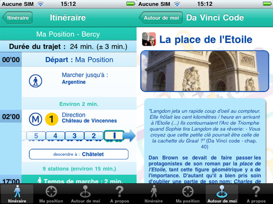 Paris Metro Top iPhone 2 Paris Metro Top iPhone : Optimiser vos Deplacements sans Internet (gratuit)