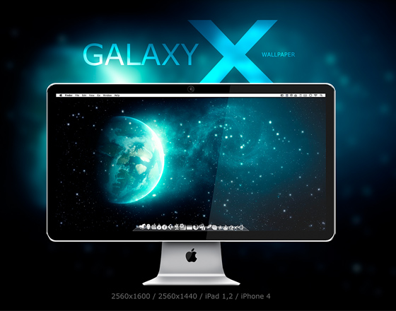 Galaxy Mac Os X Iphone Ipad Superbes Fonds D Ecran Hd Gratuit