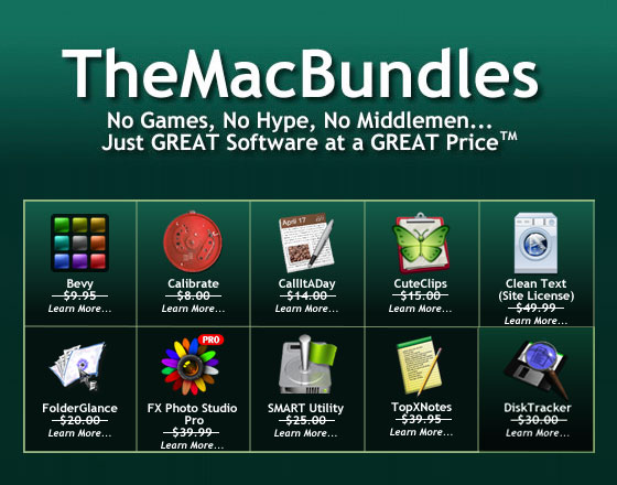 themacbundles may 2012 TheMacBundles Mai 2012 : 10 Applications Pros à 39,95 $ au Lieu de 200 $