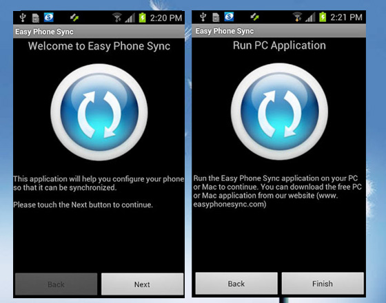 Easy Phone Sync Mac PC Android Easy Phone Sync Mac PC Android : Transferer vos Données iPhone vers Galaxy S3 (gratuit)