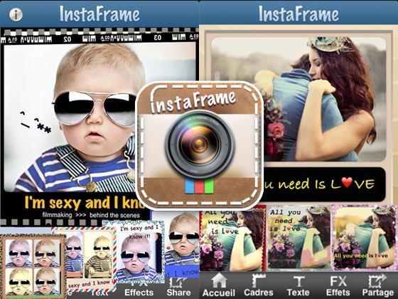 InstaFrame iPhone 1 InstaFrame iPhone : Texte, Effets, Cadres pour Photos Instagram (gratuit)