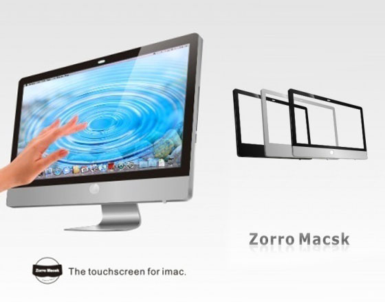 TMDtouch Zorro Macsk iMac Touch Screen 1 TMDtouch Zorro Macsk : Technologie Tactile Multitouch pour iMac (video)