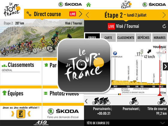 Tour de France 2012 iPhone iPad 1 Tour de France 2012 iPhone iPad : Application Officielle (gratuit)