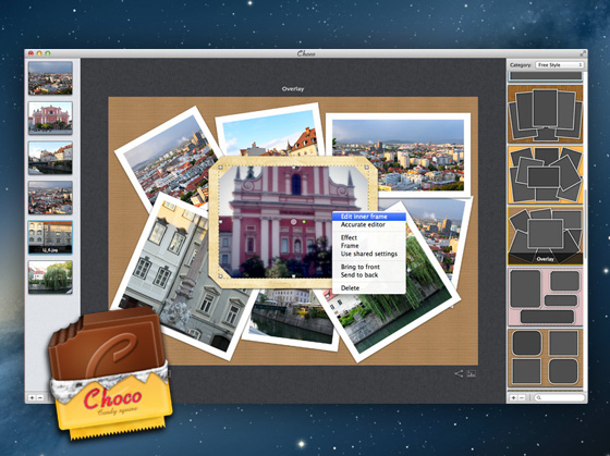 Choco Mac OSX 1 Choco Mac OSX : Collage Photo, Effets Instagram et Cadres (promo)