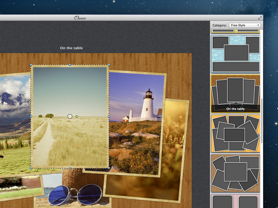 Choco Mac OSX 2 Choco Mac OSX : Collage Photo, Effets Instagram et Cadres (promo)