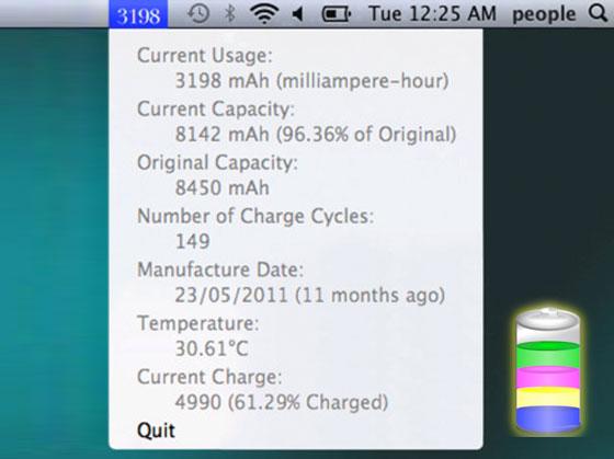 Battery Guru Mac OSX - Battery Guru Mac - Optimiser la Batterie du MacBook Pro (gratuit)