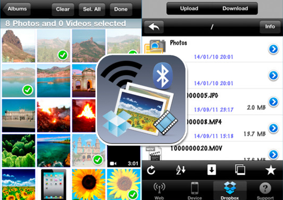 Easy Media Transfer iPhone iPad - Transfert en WiFi de Photo / Video entre Mac / PC/ iOS (gratuit)
